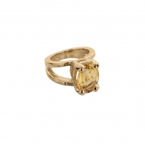Gold Citrine Maxi Claw Ring