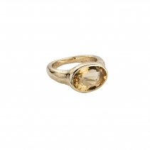 Gold Citrine Treasure Ring