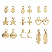 Gold Earring Charms