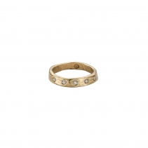 Gold 5 Diamond Midi Posey Ring