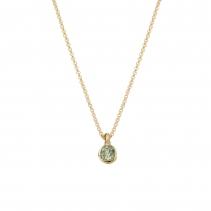 Gold Green Quartz Baby Treasure Necklace