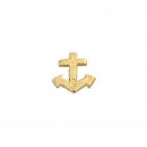 Gold Little Anchor Single Ear Charm