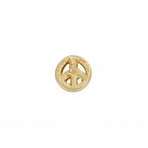 Gold Little Peace Single Ear Charm