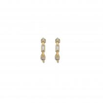 Luxury Gold Diamond Mini Cupid Hoop Earrings