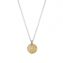 Silver & Gold Medium St Christopher Necklace