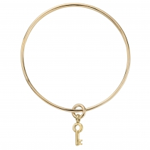 Gold Mini Dreamer's Key Bangle