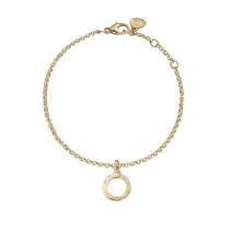 Gold Mini Open Circle Chain Bracelet