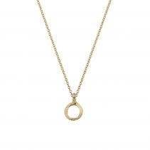 Gold Mini Open Circle Necklace
