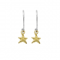 Maxi Cupid Hoops with Gold Mini Star Charms