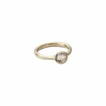 Gold Rose Quartz Baby Stone Ring