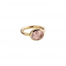 Gold Rose Quartz Baby Treasure Ring