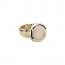 Gold Rose Quartz Mood Ring