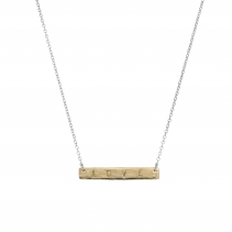 Silver & Gold Bar Necklace