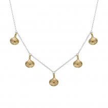 Silver & Gold Five Shell Necklace