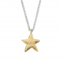 Silver & Gold Maxi Star Necklace