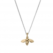 Silver & Gold Large Honey Bee Necklace