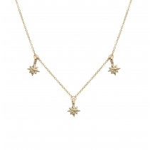 Gold Three Baby North Star Necklace