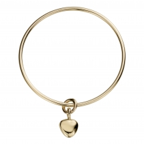 Gold Maxi Grateful Heart Bangle