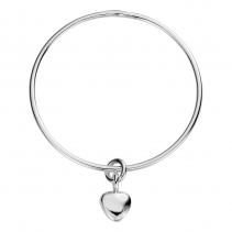 Silver Maxi Grateful Heart Bangle