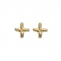 Gold Mini Kiss Stud Earrings