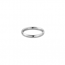 Silver Ladies Oval Wedding Band
