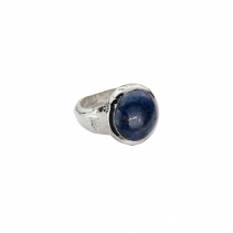 Silver Lapis Mood Ring