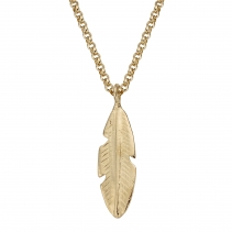 Gold Maxi Feather Necklace