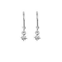 Maxi Cupid Hoops With Baby North Star Charms