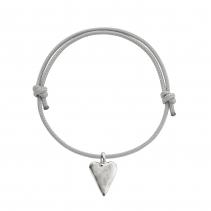 Silver Medium Heart Sailing Rope