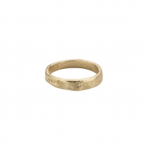 Mens Gold Midi Posey Ring