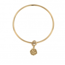 Gold Medium Yorkshire Rose Bangle