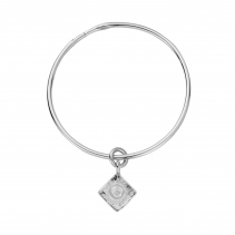 Silver Medium Graduation Cap Bangle