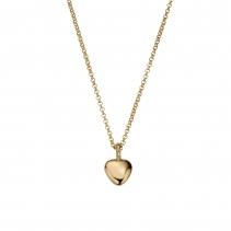 Gold Midi Grateful Heart Necklace