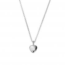 Silver Midi Grateful Heart Necklace
