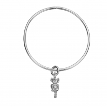 Silver Medium Lincoln Imp Bangle