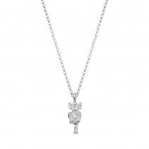 Silver Medium Lincoln Imp Necklace