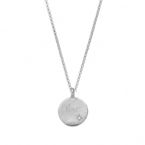 Silver Diamond Midnight Moon Necklace