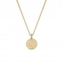 Gold Medium Roman Coin Necklace