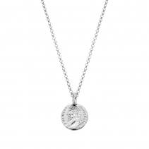 Silver Medium Roman Coin Necklace