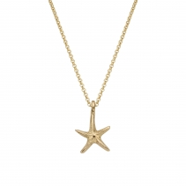 Gold Medium Starfish Necklace