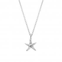 Silver Medium Starfish Necklace