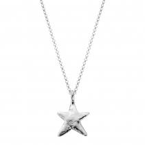 Silver Midi Star Necklace
