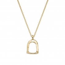 Gold Medium Stirrup Necklace