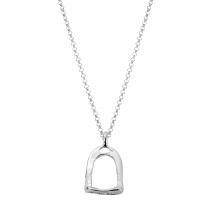 Silver Medium Stirrup Necklace