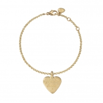 Gold Medium You Are Loved Chain Bracelet