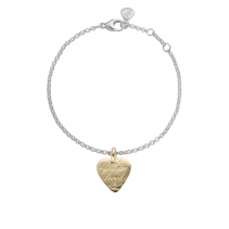 Silver & Gold Medium You Are Loved Chain Bracelet