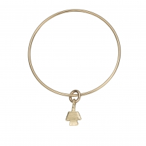 Gold Mini Angel Bangle