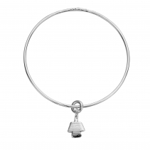 Silver Mini Angel Bangle