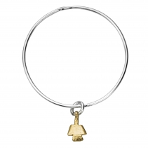 Silver & Gold Mini Angel Bangle