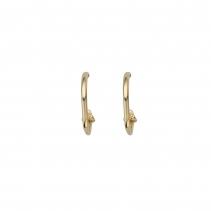 Gold Mini Cupid Hoop Earrings